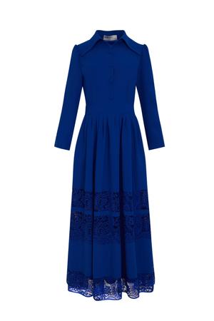 BERRENstudio - BERRENstudio Kadın Dantel Detaylı Düğmeli Elbise