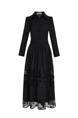 BERRENstudio - BERRENstudio Kadın Dantel Detaylı Elbise