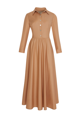 BERRENstudio - Düğmeli Pileli Elbise