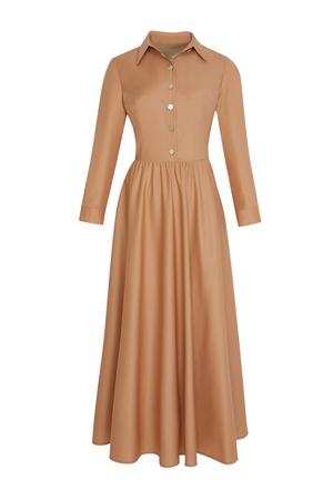 BERRENstudio - BERRENstudio Kadın Düğmeli Pileli Elbise