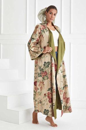 BERRENstudio - Çiçek Desenli Duble Kimono