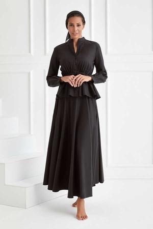 BERRENstudio - Siyah Etek Bluz Takım
